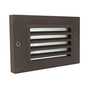 Universal Lighting Systems Louvered Step Light - Architectural Bronze
