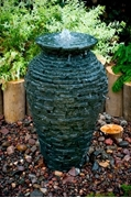 "Aquascape Small Stacked Urn Fountain Kit 32"" w/ DecoBasin & Pump"