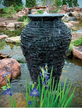 Aquascape Medium Stacked Slate Urn 45""