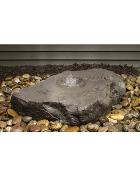 AquaBella Lg Birdbath Boulder Fountain Kit