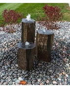 AquaBella Triple Polished Top & Sides Basalt Fountain Kit