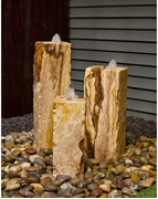 AquaBella Travertine Triple Fountain Kit