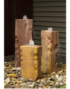 AquaBella Triple Salt River Sandstone Fountain Kit