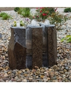 AquaBella 3 Piece Split Polished Basalt Fountain Kit