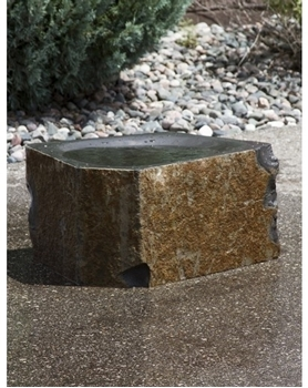 AquaBella Polished Basalt Birdbath