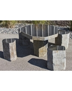 Basalt Table and 4 Chairs