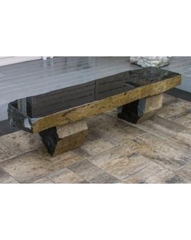 AquaBella Polished Basalt Bench