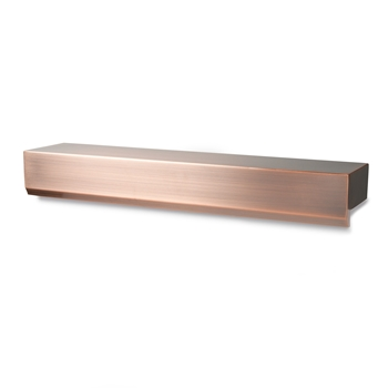 "Atlantic 24"" Copper Finish Water Wall Spillway"