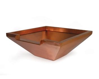 "Atlantic Square Copper Bowl - 26"" w/ 12"" Spillway"
