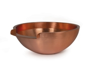 """Round Copper Bowl - 26"""" w/ 12"""" Spillway"""