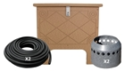ProLake1 1.2 Aeration System, 2 Duraplate Diffusers With 200' Self Weighted Tubing