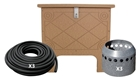Prolake1 Aeration System, 3 Duraplate Diffusers With 300' Self Weighted Tubing