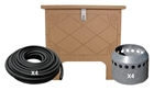 ProLake1 Aeration System, 4 Duraplate Diffusers With 400' Self Weighted Tubing