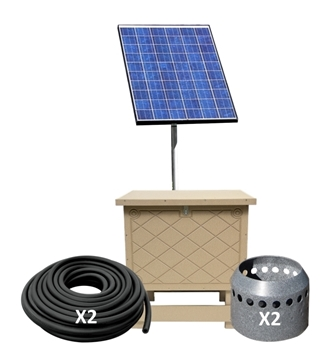 Solaer 1.2 Solar Lake Bed Aeration - 2 Duraplate Diffusers With 200' Self Weighted Tubing