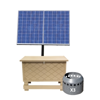 Solaer 2.3 Solar Lake Bed Aeration - 3 Duraplate Diffusers