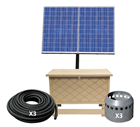 Solaer 2.3 Solar Lake Bed Aeration - 3 Duraplate Diffusers With 300' Self Weighted Tubing
